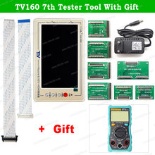 TV160 7th 6th Tester Lcd-scherm Vbyone LVDS naar HDMI Converter + 43in1 Chip Reparatie Schraper/ZT-C1 Digitale Multimeter(China)