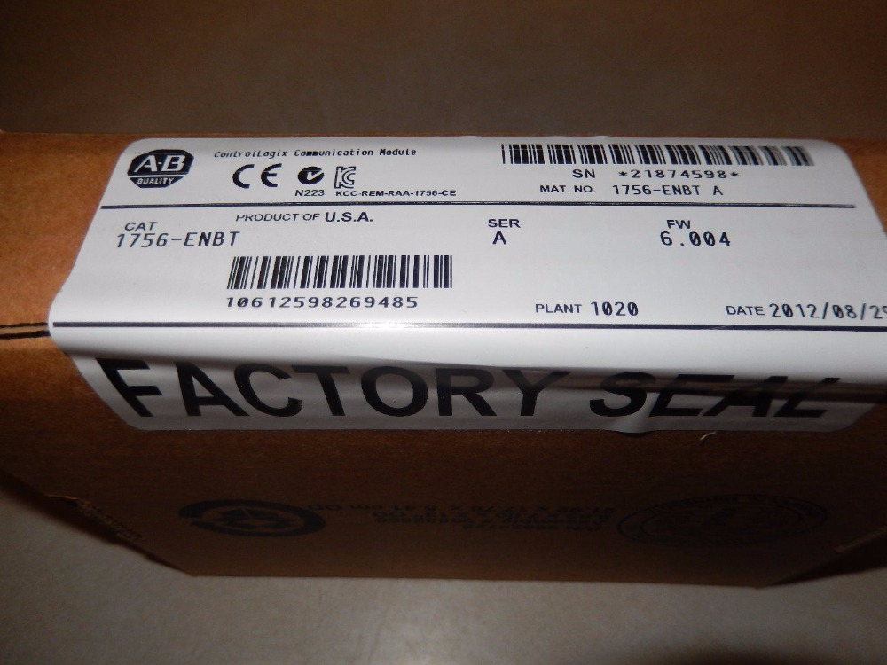 все цены на ALLEN-BRADLEY 1756-ENBT ( 1756ENBT ) ControlLogix Enet/IP Comms Module , NEW AND ORIGINAL 100%, HAVE IN STOCK, FREE SHIPPING