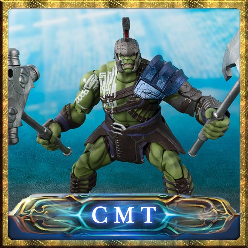 CMT Bandai Tamashii Nations Marvel Comics S.H.Figuarts SHF Hulk Thor Ragnarok Action Figure Anime Model Toy PVC Toys Figure цены