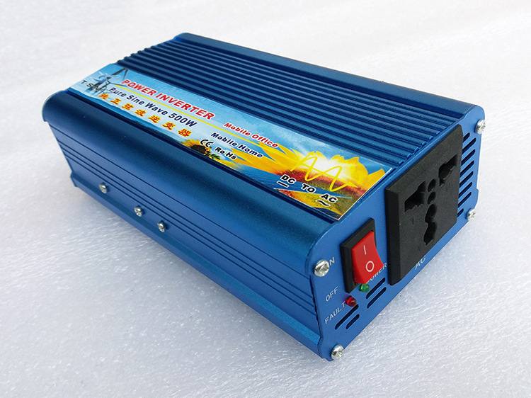 цена на off grid 500W 50hz 60hz solar power converter dc 12v 24v to ac 220v 300 watt 500 watt pure sine wave car inverter