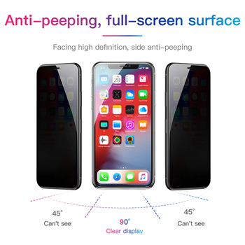 Baseus 0.23mm Screen Protector For iPhone Xs XR Xs Max 2018 Protective Glass Full Coverage Tempered Glass For iPhone X Anti Spy 1