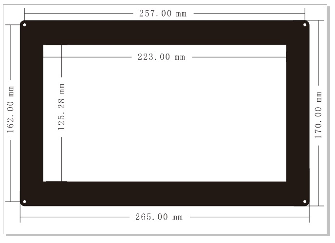 10.1inch-HDMI-LCD-with-Holder-dimension