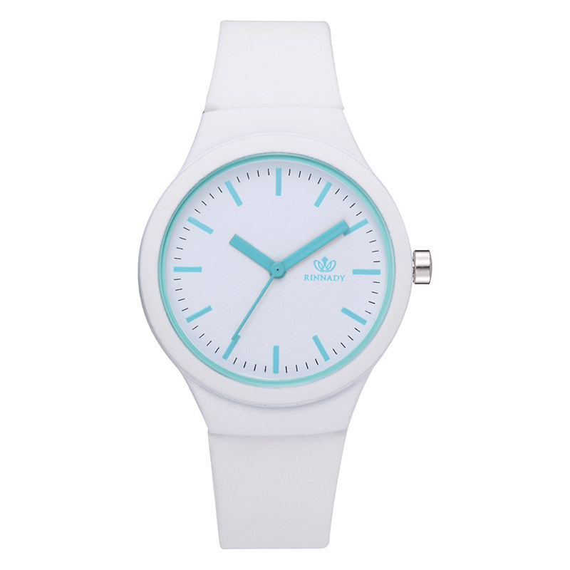 Simple Design Fashion Casual Futuristic Luxury Women Multicolor Candy Quartz Watch BGG Brand Silicone Watches Student Wristwatch