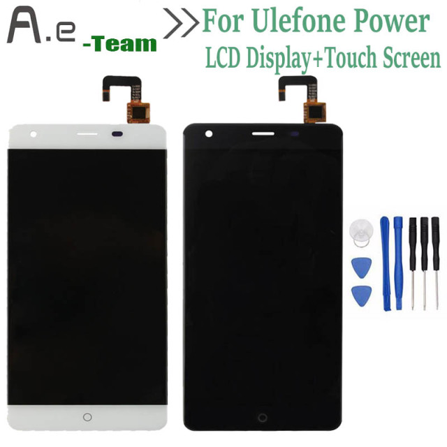 "High Quality For Ulefone Power LCD Display+Touch Screen Digitizer Replacement For Ulefone Power 5.5"" MTK6753 Smartphone+Tools"