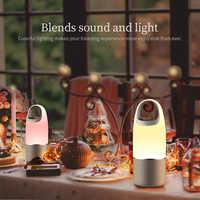 Altavoz Bluetooth NILLKIN 2 en 1 cargador de teléfono banco de energía caja de música altavoz portátil multi-color Lámpara de luz LED al aire libre dormitorio