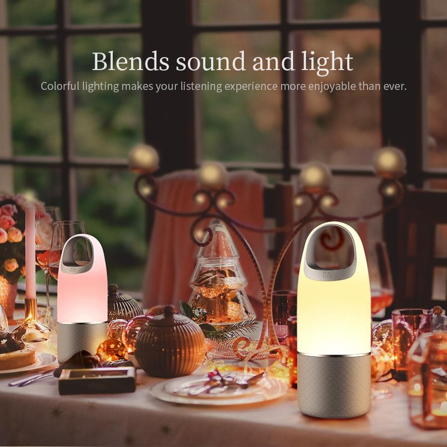Haut-parleur Bluetooth NILLKIN 2 en 1 chargeur de téléphone batterie externe boîte à musique haut-parleur Portable lampe multi-LED couleur chambre extérieure