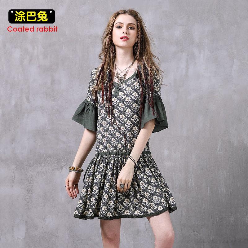 4c53896f03 2018 Vintage Floral Mode Femmes D'été Demi Mini Robe Casual Robes Courtes  Imprimé rXwrg