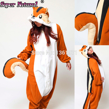 Women Men Adult Winter Warm Animal Chipmunk Squirrel Kigurums Pajamas Onesie Cosplay Costume For Halloween and