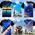 Seu Nome camiseta Anime Cosplay T-Shirt Da Forma DAS MULHERES Dos Homens Novos de Manga Curta T-shirt