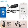 Sonoff Smart Home TH interruptor WiFi inalámbrico para automatización con Sensor de temperatura humedad Monitorin