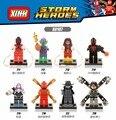 2016 Newest 8pc Spiderman  figure Scarlet Iron Noir Spiderman 2099 Gwen Woman Building Blocks Bricks Kids Toy