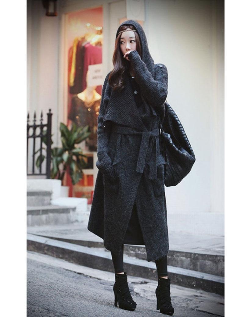 Long Wool Sweater Coat - JacketIn