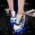 Hot 2017 Atacado Dos Homens Unisex Led luminosos sapatos Casuais, USB Recarregável formadores de incandescência Colorido Led Iluminado sapatos para Adultos