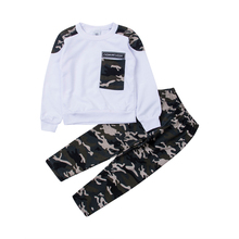 Pudcoco Kid Baby Boy Casual Clothes Set 2019 Long Sleeve T Shirt Camouflage Pant Tracksuit Children Clothing 2-9Y new