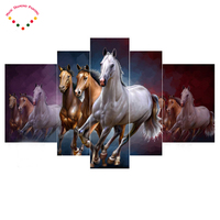 Running Horses Needlework 5d Diamond Embroidery Diy Diamond Mosaic Painting Rhinestones Cross Stitch Diamond Painting 5pcs