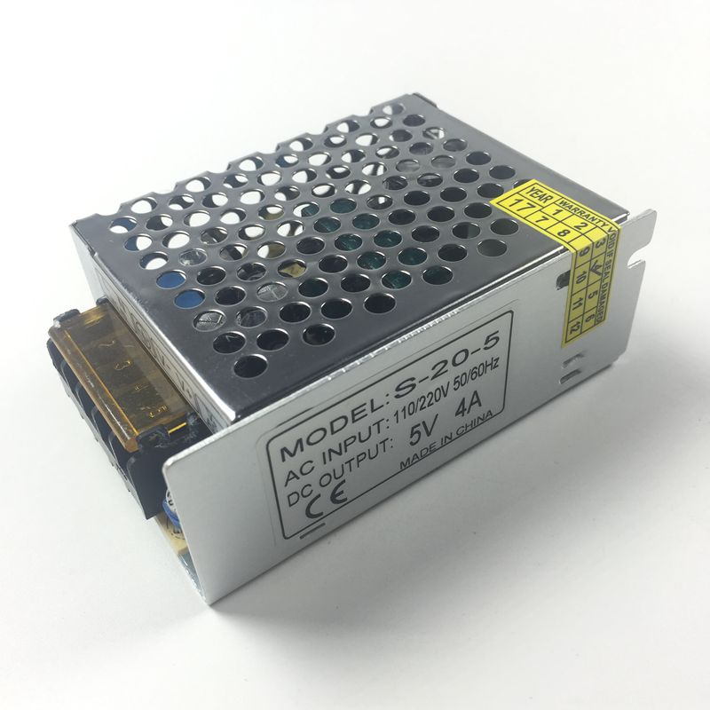 5V 4A 20W LED Power Supply Transformer Switching For Led Strip Light WS2811 WS2801 LED Pixel