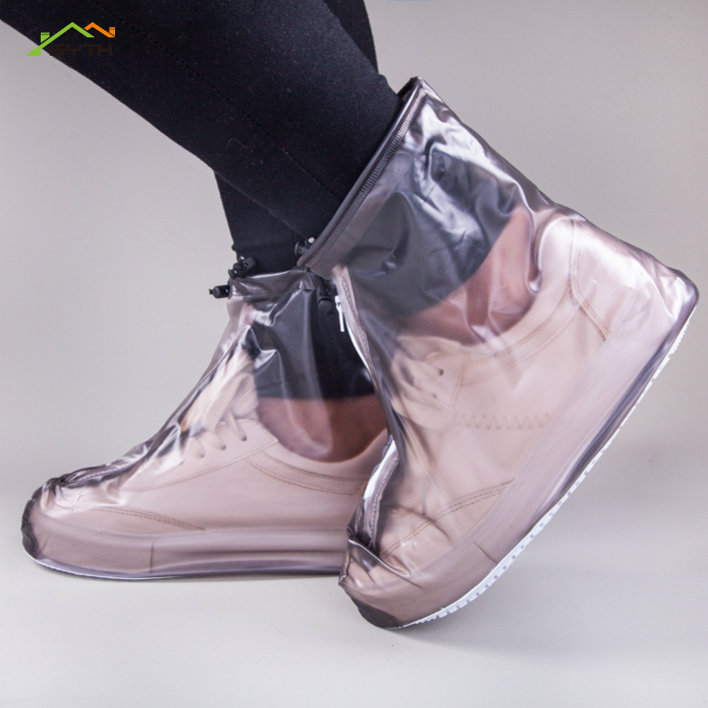 1Pair Reusable Elastic Shoe Cover Home Indoor Skid Overshoes Student Room Outdoor Dustproof Waterproof Foot Cover Overshoes