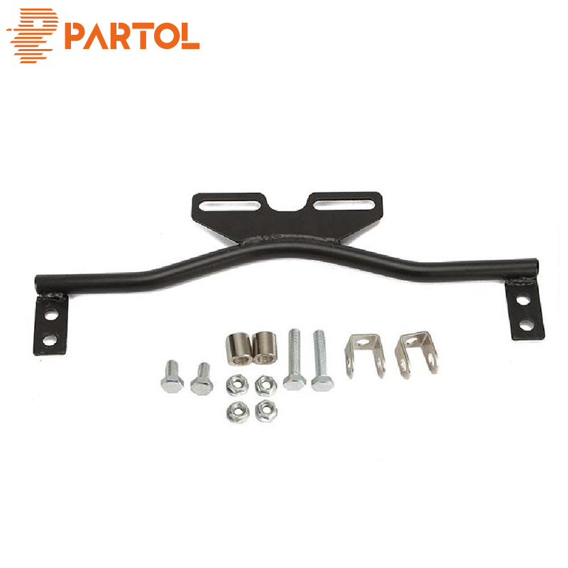 Partol Black Steel Motorcycle Light Bar For Spot/fog Lights Or Turn Signal Lights For Honda Suzuki Kawasaki Harley Yamaha