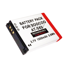 AT-S60 AT S60 Soocoo S60 Lithium Ion Rechargeable Battery Pack For Soocoo S60 Sports Action Video Camera  3.7v 1300mAh 3.9Wh