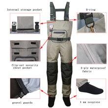 Мужская одежда для ловли нахлыстом, Охотничья грудь, уличная дышащая одежда, болотные штаны, водонепроницаемая одежда, комбинезоны, чулки для ног