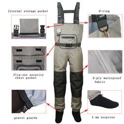 Los hombres de pesca botas de caza Ave zancuda pecho de al aire libre ropa transpirable vadeo pantalones a prueba de agua ropa overoles de pie