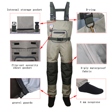 Men's Fly Fishing Waders Hunting Chest Wader outdoor Breathable Clothing Wading Pants Waterproof Clothes overalls stocking foot - discount item  28% OFF Hunting