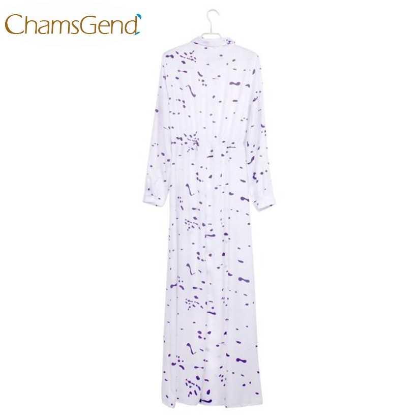 79f2678920f ... Недавно Дизайн Для женщин Мода шифон белое платье в горошек с отложным  воротником кнопку Макси длинное ...