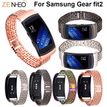 Stainless Steel Watchbands For Samsung Gear fit2 smart watch Bracelet wristband Replacement For Samsung Gear fit2 Bands strap samsung gear fit2 яндекс переведет текст с картинки почта россии будет доставлять уведомления по e mail