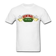 Mens tshirt Central Perk Custom Made Coffee Tee Shirts Short Sleeve Cotton Men T-shirts 3D Digital Printed T shirt Homme large s