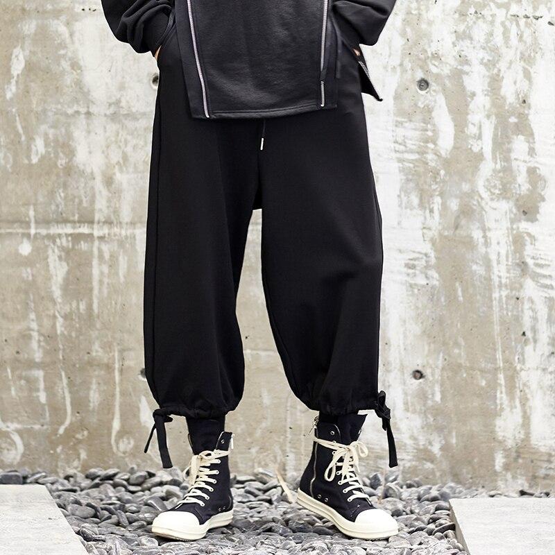 Männer Neue Streetwear Japan Stil Casual Hose Mode Lose Breite Bein Hosen Männlichen Punk Hip Hop Harem Hosen