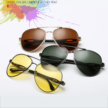 Summer Glasses Men Pilot Style Wayfarer Driving Polaroid UV400 Mirrors Metal Alloy Frame Casual font b