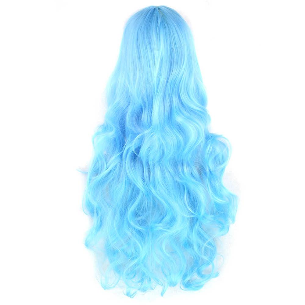 Soowee 20 цветов 80 см длинные вьющиеся волосы парик термостойкие синтетические волосы синий зеленый парик вечерние парики для косплея для женщин