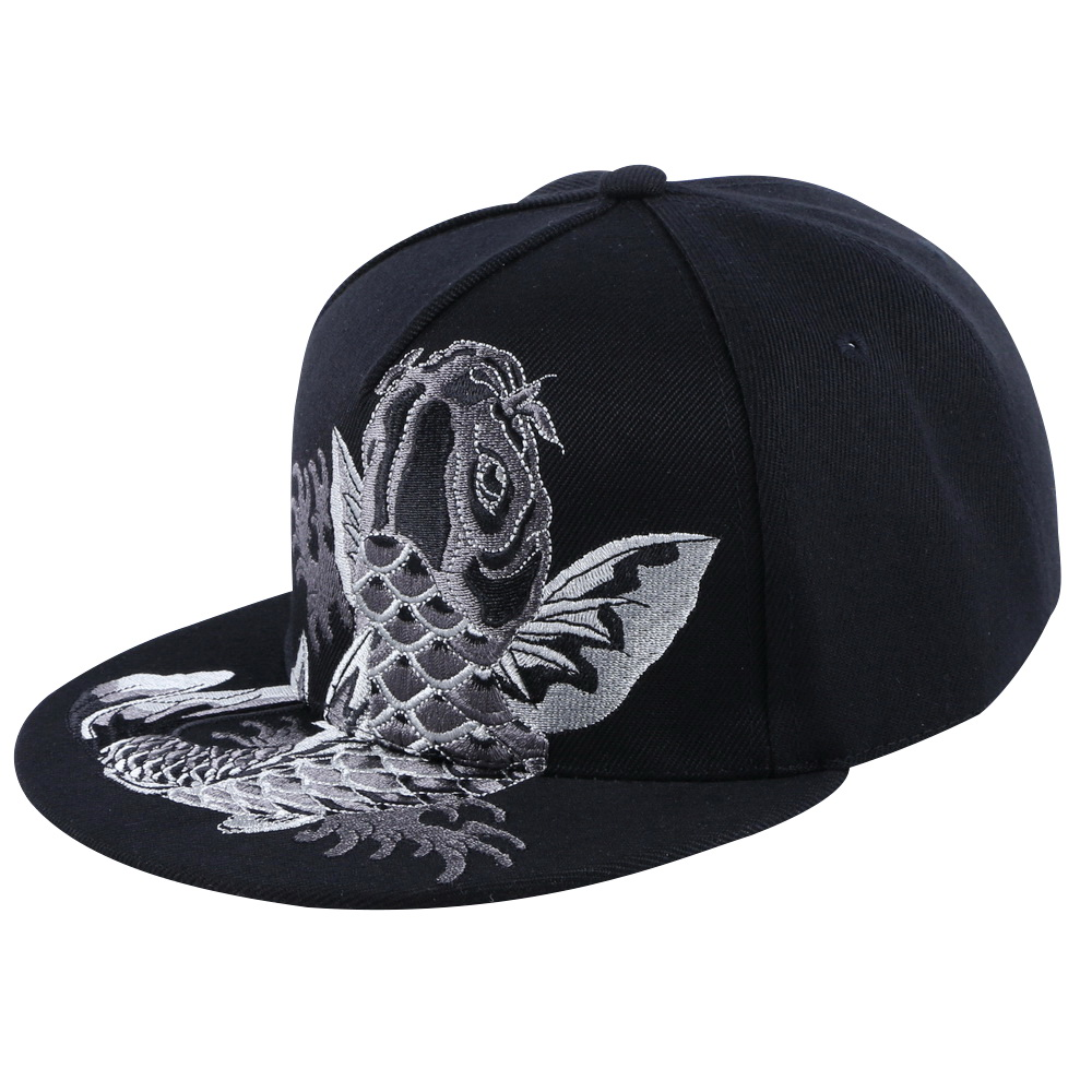 0281f394 unisex women men hip hop snapback cap embroidery animal carp fish design  acrylic casual hat outdoor sports caps wholesale brand -in Baseball Caps  from Men's ...