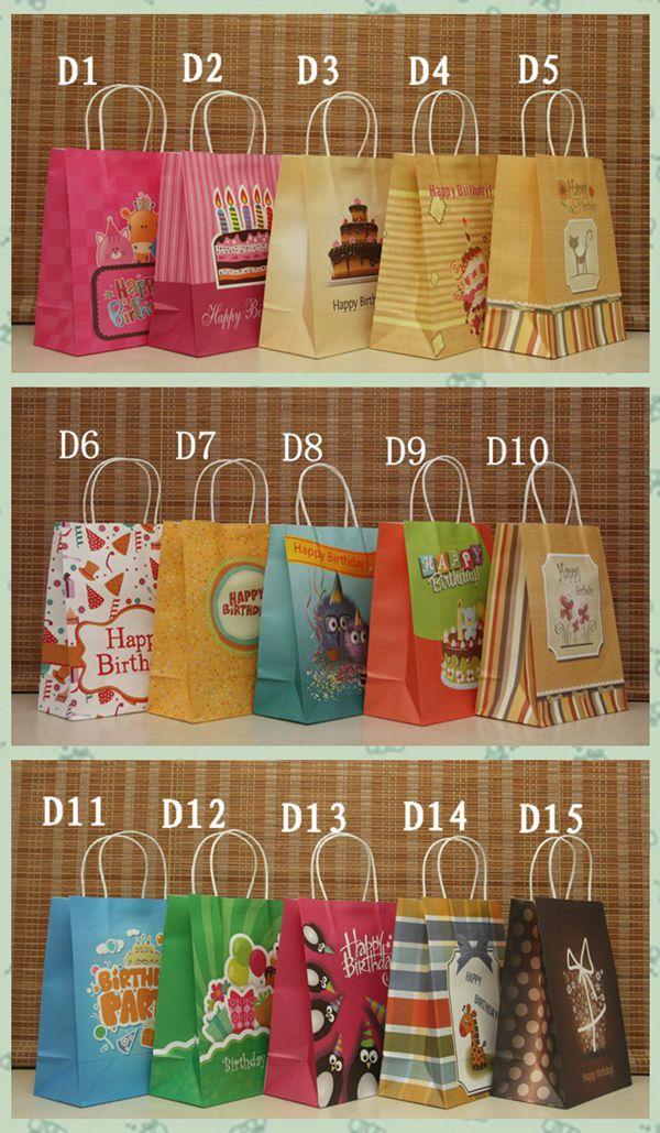 Free Ship40pc21X13X8cm New Elegant Kraft Paper Bag Shopping Bags Wholesale PriceBirthday Gift