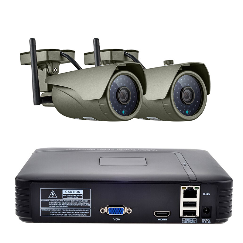 4CH font b Wireless b font NVR Kit 1080P FHD Outdoor IP Video Security Camera System