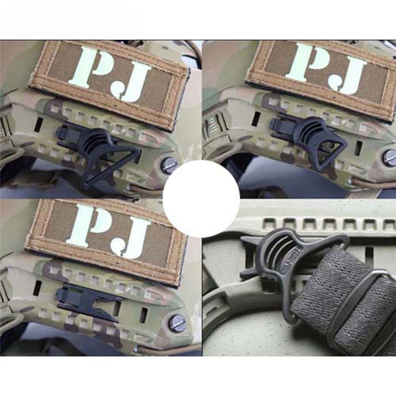 2x Fast Helmet Vision Goggle Buckles Clips Airsoft Tactical Helmet Accessory YJU