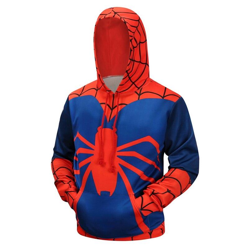 Spiderman 3D Printed Brand Hoodies Men Sweatshirts Casual Winter Superhero Pullover Boy Hoodie Hooded Hoodie Casual Coats S-6XL