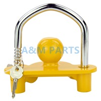 Universal Trailer Ball Hitch Coupler Lock Adjustable Trailer Coupling Lock