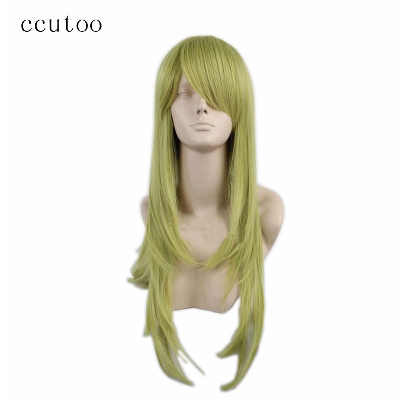 ccutoo Heidi Ogazavara 65cm Green Curly Long Synthetic Hair Heat Resistance Fiber Cosplay Full Wigs