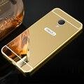 Для Meizu M3s Case Зеркало Задняя Крышка Коке и Алюминиевый Металлический Каркас Набор Горячий Телефон Корпус Для Meizu M3s mini