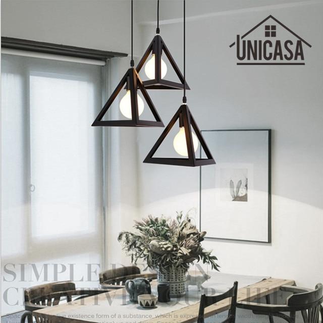 Vintage hierro forjado Lámparas colgantes Iluminación industrial ...