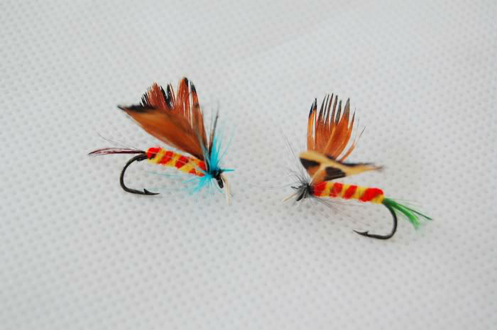 48-Pieces Butterfly Design Single Hook Fly Fishing Lures Free Shipping