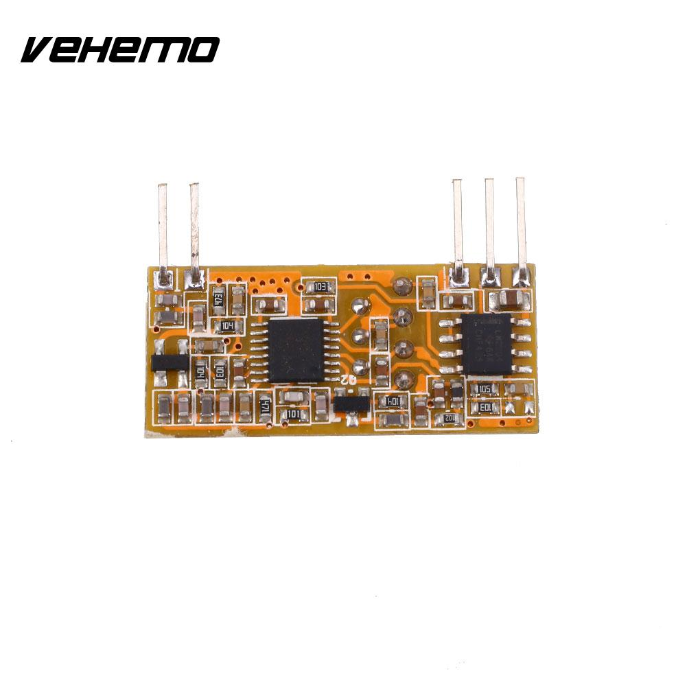 Vehemo 433MHz-114dBm DC3-5V Multi Use Wireless Remote ASK RF Signal Receiver Module