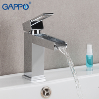 GAPPO waterfall brass faucet basin chrome washbasin mixer sink faucet tap bathroom brass faucets basin sink water taps