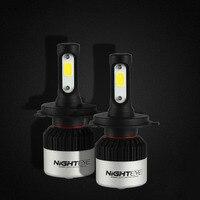 NIGHTEYE Car 2 X LED Chips Light 72W Set 9000LM 9005 9006 H4 H7 H11 Headlight