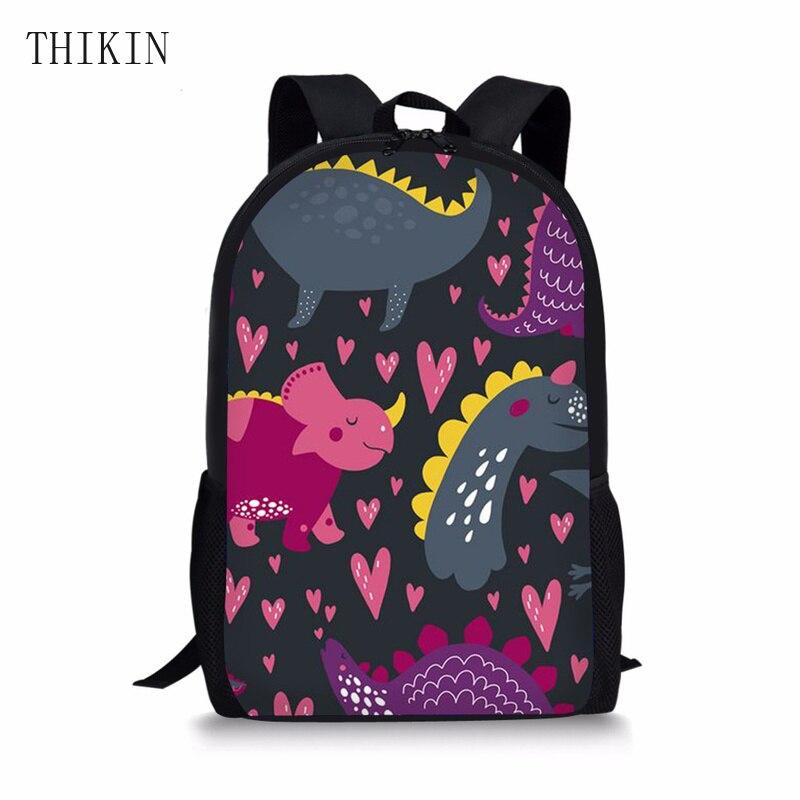 THIKIN Cool Animation Mini Dinosaur School Bag For Boys Kids Trolley Children Backpacks Girls Kindergarten Orthopedic Back Pack
