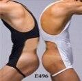 Underwears dos homens da marca sexy Shapers Bodysuit Sexy masculino 1 conjunto bodysuit de uma peça macacão colete e445