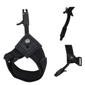 Image 2 - 1pc Black Caliper Release Hunting Shooting Bow Arrow Accessories Wrist Release Strap Used For Compound Bow