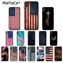 MaiYaCa American USA Flag TPU Soft Phone Accessories