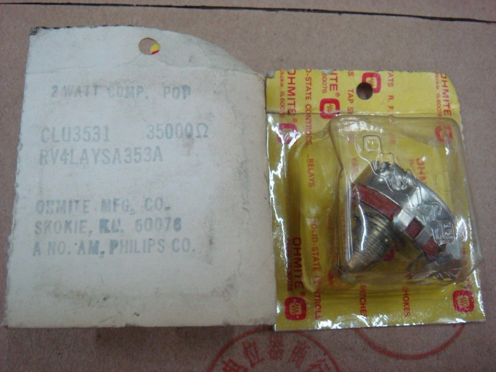 Original new 100 US import high quality RV4LAYSA353A 35K 353 import potentiometer with lock SWITCH